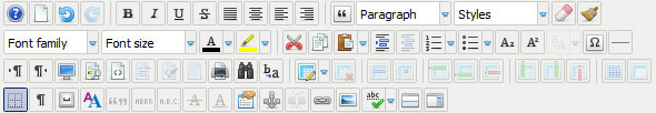 JCE tekstiredaktor