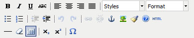 Joomla standardne tekstiredaktor