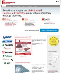 ES-Balti Profiil kodulehe kujundus