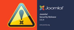 Joomla turvauuendus 3.6.4
