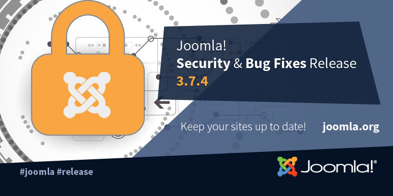 Joomla 3.7.4 turvauuendus