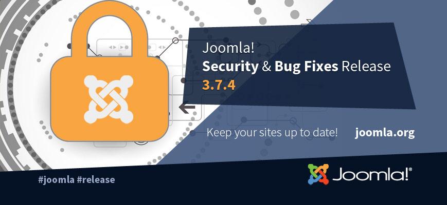Joomla! 3.7.4 turvauuendus
