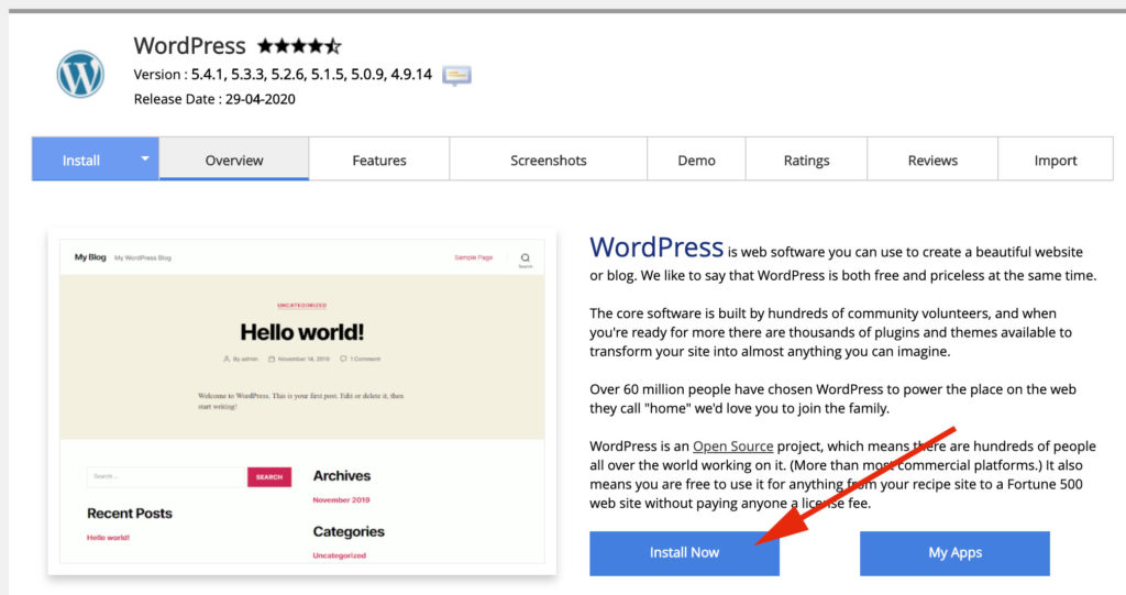 Wordpressi paigaldamine Wavecom veebimajutuses