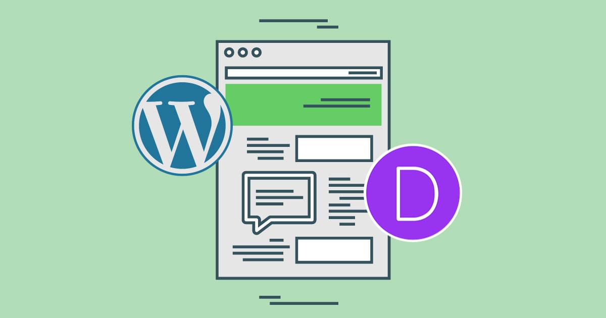 Veebilehe valmistamine Wordpressi ja Diviga